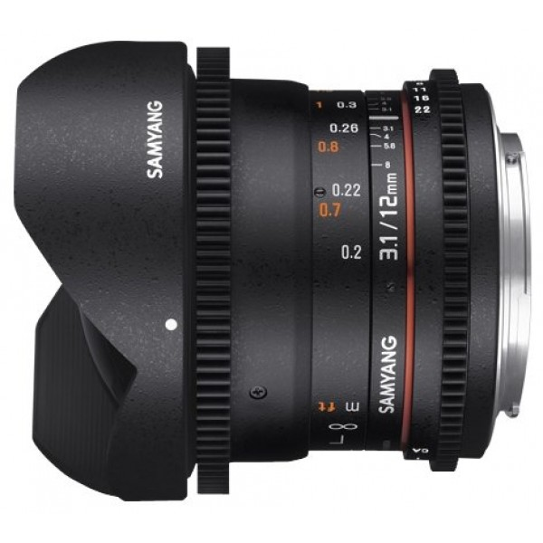 Samyang 12mm T3.1 ED AS NCS VDSLR Fish-eye Micro 4/3